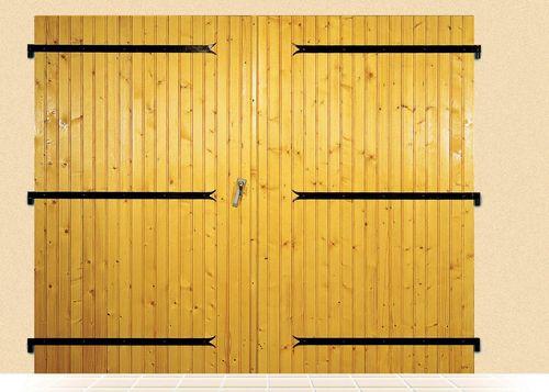 porte de garage battante 2 vantaux bois