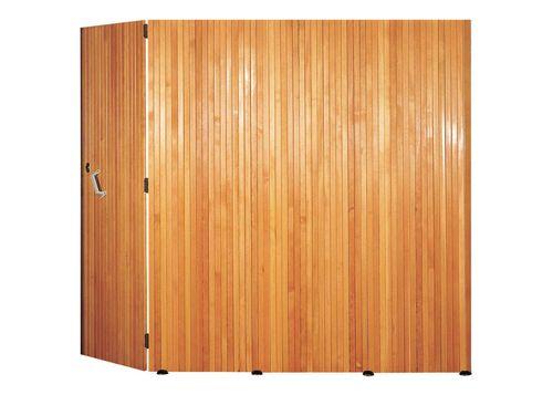 porte de garage latérale bois