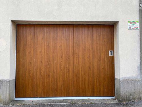 porte de garage imitation bois