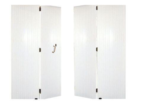 porte de garage battante 4 vantaux PVC