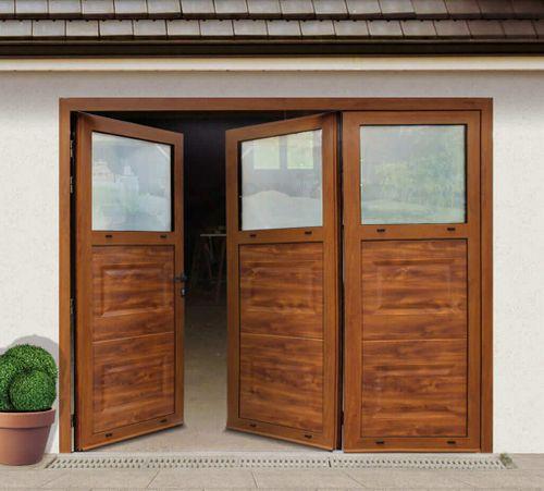 porte de garage battante motif classico