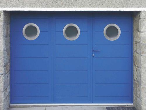 porte de garage battante motif algue