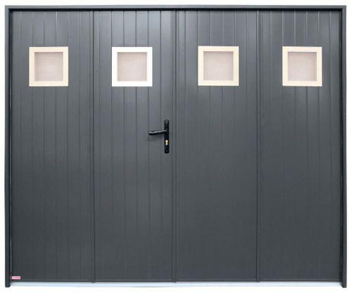 porte de garage battante motif simple